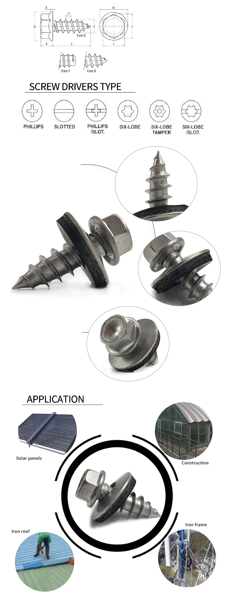 flange tapping screw-细节应用