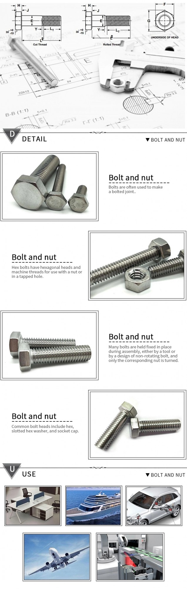 hex bolt nut-细节应用
